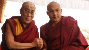 The Dalai Lama with the Karmapa