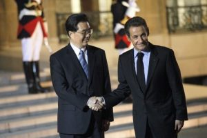 Hu Jintao and Nicolas Sarkozy, November 2010