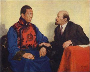 Mongolian People's Republic The meeting between D. Sukhe-Bator, the leader of the People's Revolution of 1921, with V.I. Lenin in November, 1921