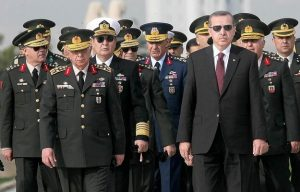 Prime Minister Erdogan with Chiefs of the Turkish General Staff