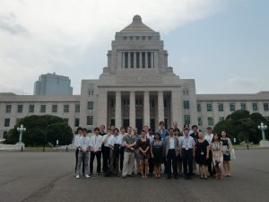 University of British Columbia Master of Arts - Asia Pacific Policy Studies students on their experiential research trip to Japan  (August 2011).  This trip included a comprehensive negotiation simulation detailing a prospective Canada-Japan EPA in cooperation with Hitotsubashi University, and in consultation with several private and public stakeholders, including Japan Business Federation, Ministry of Foreign Affairs, Department of Foreign Affairs and International Trade, and the Canadian Embassy to Japan.