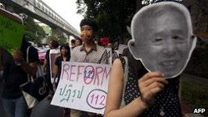 Thai citizens call for reform of lèse-majesté laws  (source: BBC).