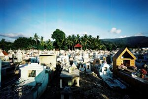 In 1991, a massacre by Indonesian forces at a funeral for an independence activist in the Santa Cruz Cemetery in Dili (pictured here) drew attention to the brutal conditions of the Indonesian occupation of East Timor (source: http://www.zocalopublicsquare.org/2010/01/22/a-genocide-story/book-reviews/ )
