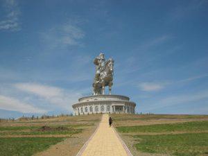 Genghis Khan as theme park at the Tsonjin Boldog.