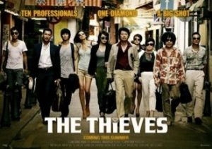 The Thieves (2012), a good example of a hybrid Korean film, is a vibrant and complex heist movie with one of the most high-profile casts ever assembled. It was very much influenced by Hollywood's Ocean's Eleven (2001).