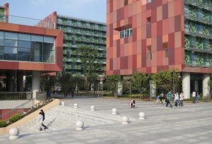 The campus of Xi'an Jiaotong-Liverpool University, a major sino-foreign joint university in Xi'an, China (image source: Goyah).