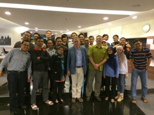 Dr. Yves Tiberghien with students of the School of Governance and Public Policy in Jakarta (2014).