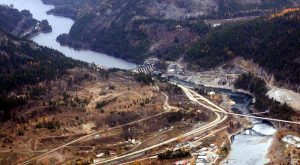 The Brilliant Dam, near Castlegar, BC--owned and operated by the Columbia Power Corporation in partnership with the Columbia Basin Trust--is one example of a co-governance arrangement between higher and lower levels of government (credit: waferboard).