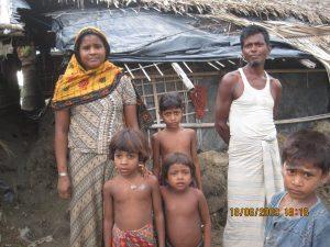 An undocumented Rohingya family in Bangladesh (Credit: Kazi Fahmida Farzana). For more photos, please visit our tumblr.