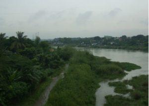 Angat River, Bustos, Bulacan, Philippines (Credit: Sarah Thomas, 2013).