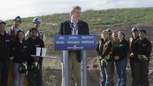 Canadian Prime Minister Stephen Harper highlights the economic benefits of responsible resource development in the north.