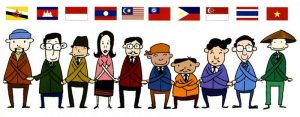 A cartoon representation of a serious undertaking. An ASEAN graphic of the AEC member states (credit: ASEAN).